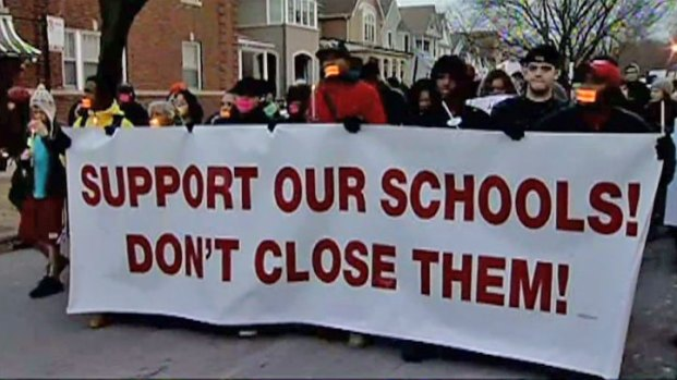 [CHI] School Protest Heads to Mayor's House