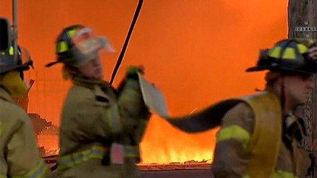 [NY] Firefighters Emotional After Battling Boardwalk Fire