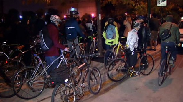 [CHI] Vigil Held for Bicyclist Killed