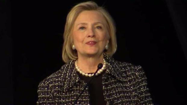 Hillary Clinton Speaks at Wells Luncheon