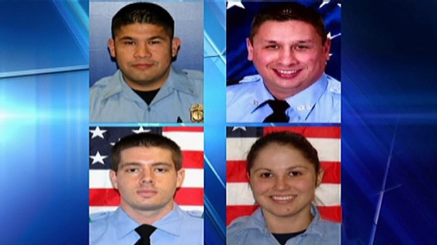 [DFW] Local Firefighters Help With Memorial for Houston Firefighters