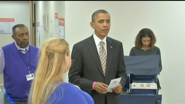 [CHI] Obama Touts Early Voting After Casting Ballot