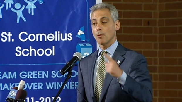 [CHI] Emanuel Touts Environmental Projects at St. Cornelius School