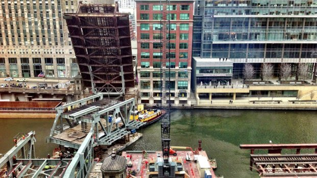 [CHI] Wells Street Bridge Reopens