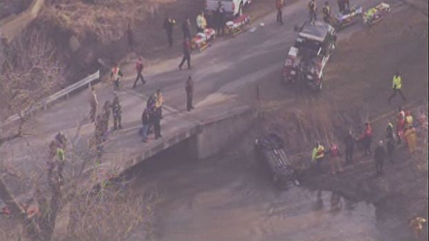 [CHI] Raw: Car Pulled From Forked Creek In Will County
