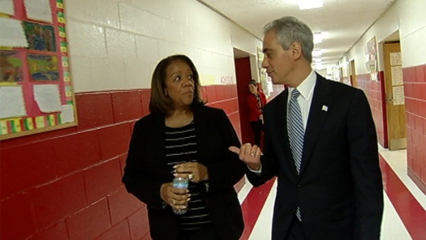 Rahm, Byrd-Bennett Discuss CPS Closings