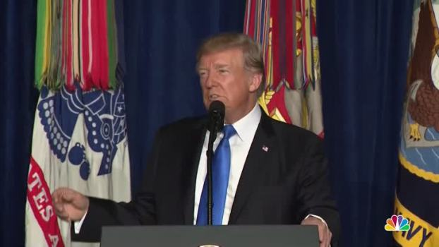 President Trump Lays Out US Plans for Afghanistan