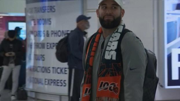 Watch as Bears Players Arrive in London