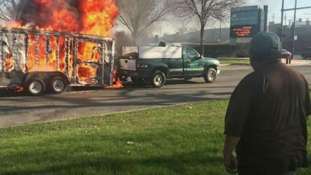 Principal Saves Man From Burning Trailer