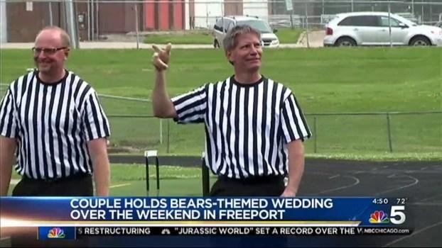 Illinois Couple Has Bears-Themed Wedding