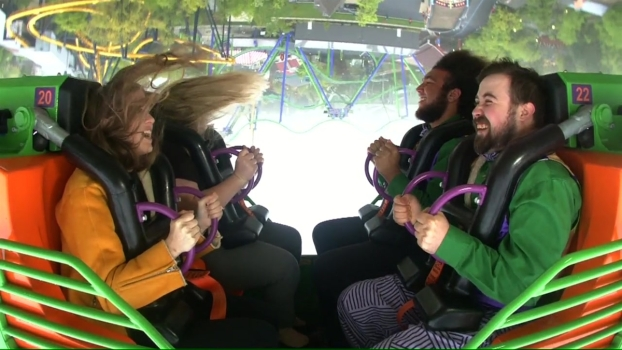 See What It's Like to Ride Six Flags' Newest Coaster