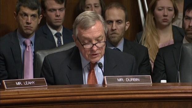 Watch: Durbin Says He'll Vote No on Kavanaugh