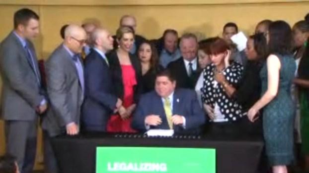 Watch Pritzker Sign Recreational Marijuana Bill