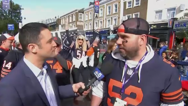 Bears Fans Show Out in London Ahead of Raiders Game