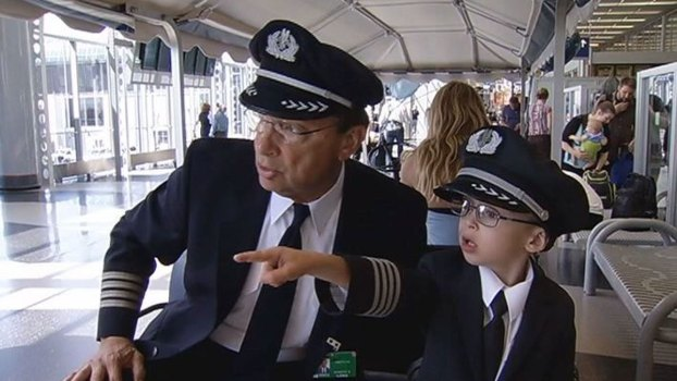 Boy With Heart Defect Becomes Honorary Pilot