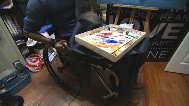 Paralyzed After Shooting, Chicago Artist Uses Mouth to Paint