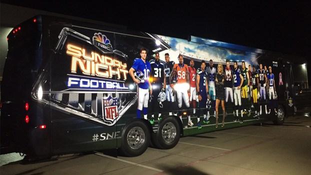 Take a Peek Inside the 'Sunday Night Football' Bus