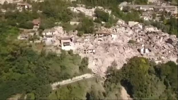 [NATL] Drone Footage Shows Earthquake Damage in Italy