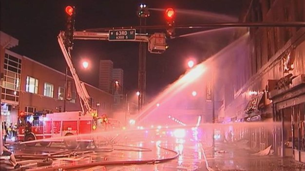Fire Destroys Large Englewood Commercial Building