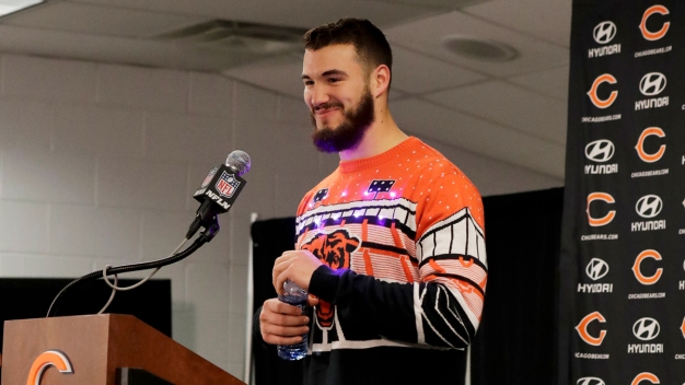 Trubisky's Post-Game Christmas Sweater Appears to Sell Out