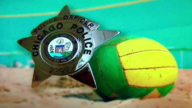 Police Officers Play Volleyball with Teens at Humboldt Park