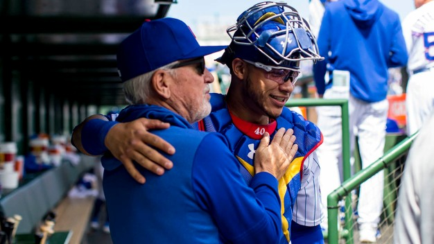 Artist Captures Bond Between Maddon, Contreras in Painting
