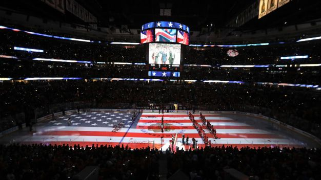 Blackhawks Honor Cmdr. Bauer With Jersey Tribute