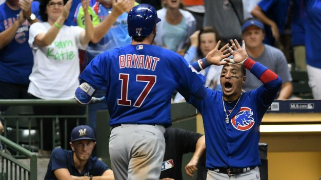 Cubs Rally in 9th, Beat Brewers 5-3 in 10th to Extend Lead