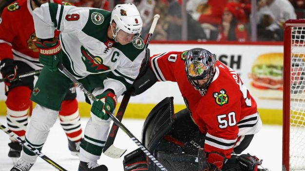 Kane Scores Two Goals as Blackhawks Tame Wild