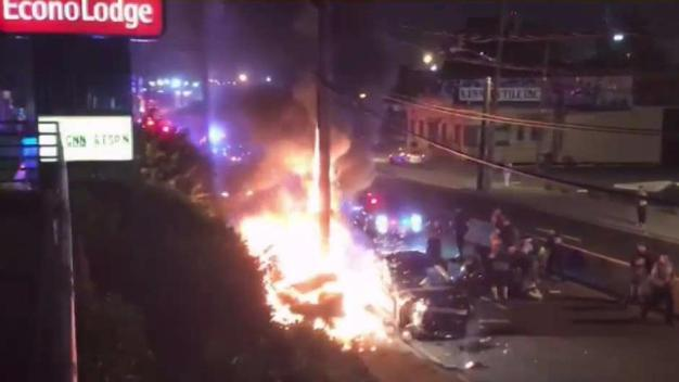 Police Chase Ends in Fiery Crash in New Jersey