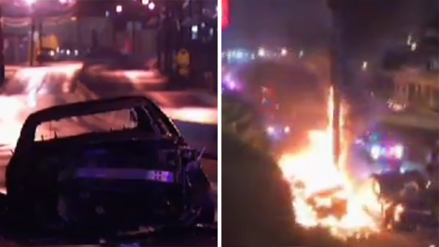 Jersey City Police Chase, Shooting End in Fiery Crash