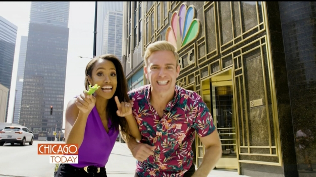Hosts of 'Chicago Today' Hunt for Gators in NBC Tower