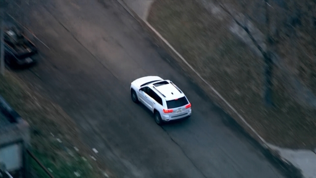 Raw Video: Police Chase Ends in Dramatic Arrest Caught on Cam by Sky 5