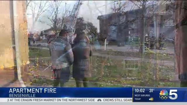 Bensenville Apartment Fire Displaces Dozens