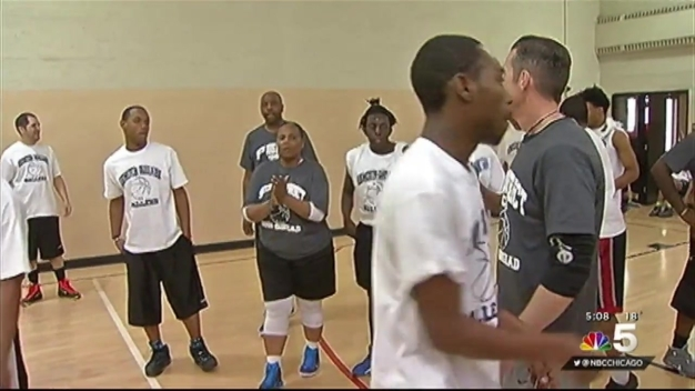Chicago Officers Build Relationships With Youths Through Basketball Game