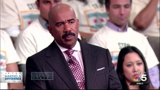 Survivors of Chicago Gun Violence Participate in Town Hall with Steve Harvey