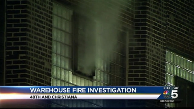 CFD Rules Warehouse Fire Suspicious