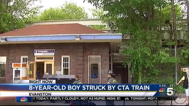 Boy, 8, Struck By CTA Train in Evanston