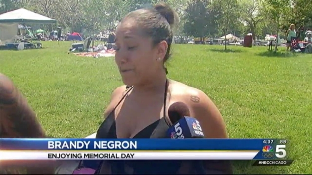 Chicagoans Head Outside for Warm Memorial Day