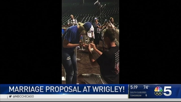 Love in the Air at Wrigley: Marriage Proposal Caught on Cam
