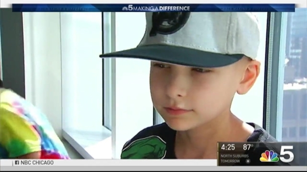 'Superhero' Window Washers Surprise Kids at Chicago Hospital