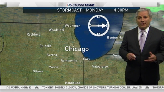 Chance of Storms Sunday