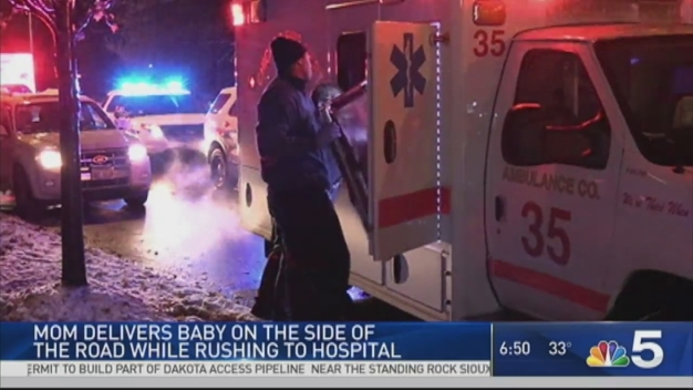 Couple Delivers Baby on Side of Chicago Road