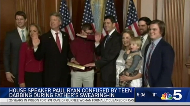 Speaker Ryan Confused by Dab During Kansas Congressman's Swear-in