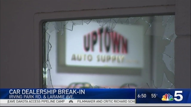 Police Investigate Break-in at Car Dealership in Portage Park