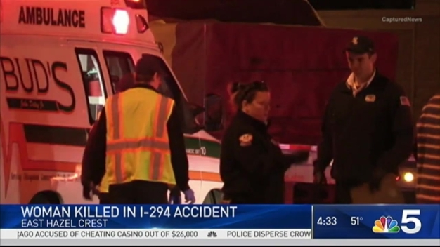 Woman Killed in Accident on I-294