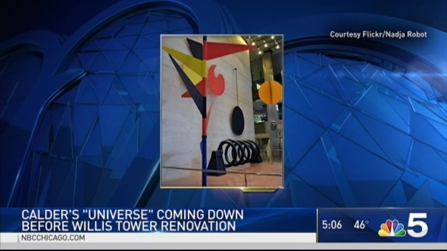 Famous Work of Art Leaves Willis Tower