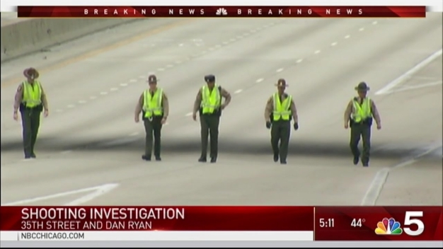 Police Investigate Shooting on Dan Ryan Expressway