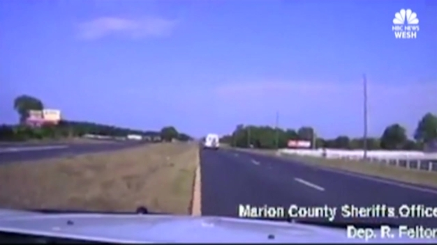 Dashcam Captures Fiery Crash, Rescue