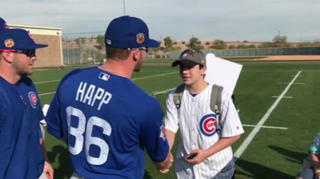 Kids Treated to Spring Training Trip Reunited With Favorite Cubs Players